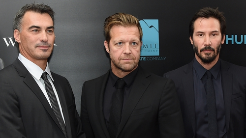 (l-r) Directors Stahelski and Leitch and their leading man