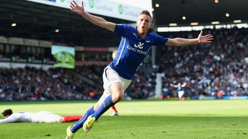 Jamie Vardy in action for Leicester City