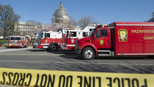 The DC Fire Department cordoned off the scene at Capitol Hill