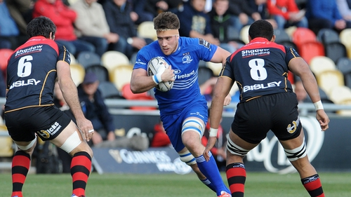 Leinster's Dominic Ryan makes a dart at Rodney Parade