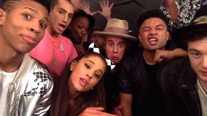 Ariana Grande, Justin Bieber and friends