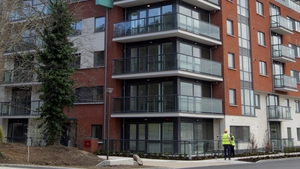 Workers finishing off phase 1 of Hibernia REIT's Wyckham Point project in Dundrum