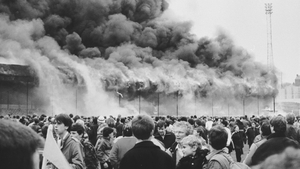 56 people died when a stand at Bradford City's Valley Parade ground was engulfed in flames