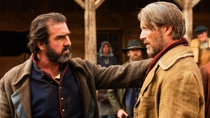 Eric Cantona, left, and Mads Mikkelsen in The Salvation