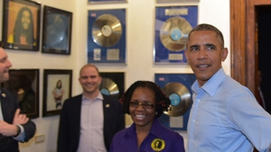President Obama visits Marley museum