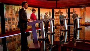 Five party leaders clashed in a 90-minute 'challengers' debate' in the absence of Prime Minister David Cameron