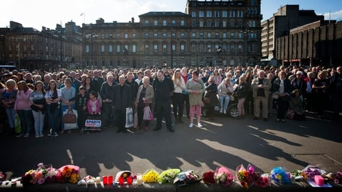 Hundreds of people gathered in Glasgow's George Square