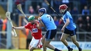 Dublin's Conal Keaney tackles Daniel Kearney of Cork