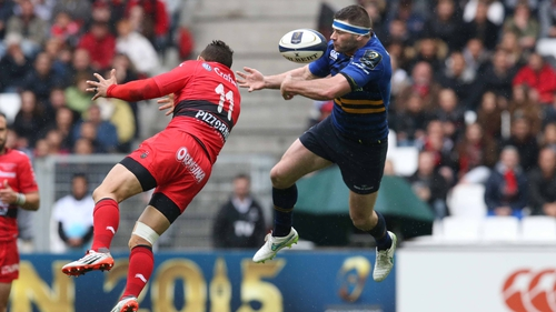 Fergus McFaddden fractured his thumb in a 50/50 aerial collision with Bryan Habana