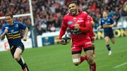 Bryan Habana sprints home to score the opening try of the Toulon-Leinster semi-final