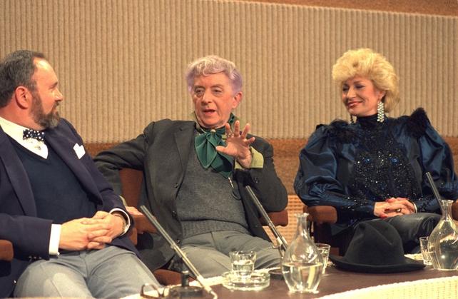 David Norris, Quentin Crisp and Faith Brown (1985)