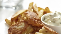 Fish and Chips - Serve with your homemade tartar sauce and a wedge of lemon.