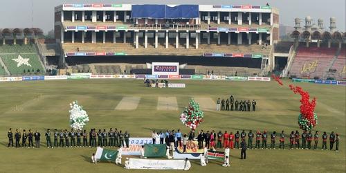 Kenya, amid tight security, played Pakistan in Gaddafi stadium last year
