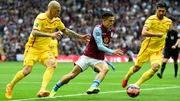 Jack Grealish in action for Aston Villa against Liverpool