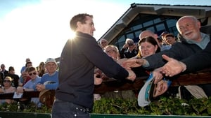 Racegoers flock to shake hands with Tony McCoy after his final ride in Ireland at Fairyhouse