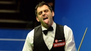 Ronnie O'Sullivan trails by four frames ahead of the evening session