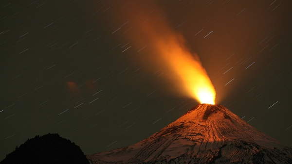 Another volcano in Chile, Villarrica, showed visible signs of activity yesterday