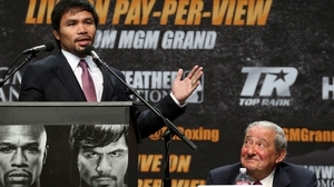 Bob Arum: 'Manny Pacquiao is bound and determined, not only to win this fight, but to beat up Floyd Mayweather'