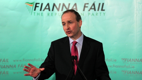 Fianna Fáil leader Michéal Martin is meeting with party delegates today