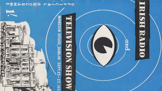 Catalogue cover for the Irish Radio and Television Show held at the Mansion House in 1958.