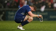 A dejected Jamie Heaslip of Leinster at the final whistle
