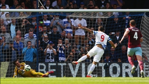 West Ham's Adrian saves Charlie Austin's penalty attempt