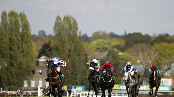 Noel Fehily riding Special Tiara (L) goes on to win the Celebration Chase