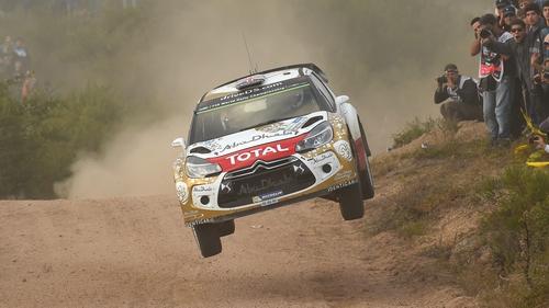 Kris Meeke in action in Argentina