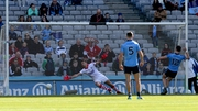 Diarmuid Connolly's well taken penalty helped Dublin to an eight-point half-time lead