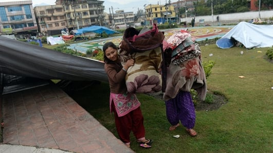 Aftermath of earthquake in Nepal