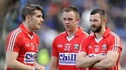 Cork's Daniel Goulding, Paul Kerrigan and Noel Galvin dejected after league final defeat to Dublin
