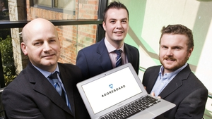 Dr Gary McKeown, Chris Johnston and Dr Fergal Monaghan from Adoreboard