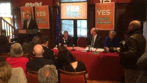 Enda Kenny speaking at the launch of Fine Gael's Yes campaign