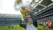 Eamonn Fitzmaurice with Sam Maguire after Kerry's All-Ireland victory over Donegal