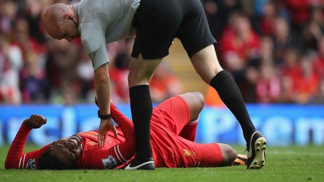 Reds striker Sturridge a doubt for rest of season