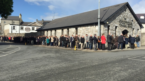 Karen Buckley's remains lay in repose at a funeral home in Mallow
