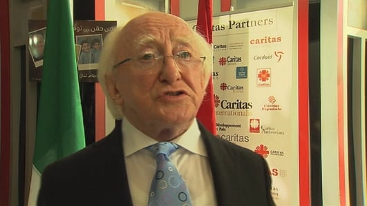 President Higgins meets immigrant groups in Beruit