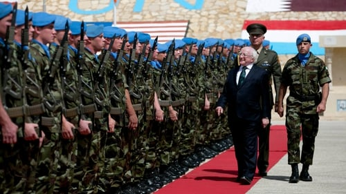 President Michael D Higgins said Ireland has a proud moral heritage based on its peacekeeping