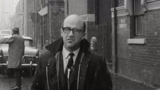 RTÉ News reporter, Barry Linnane, reporting from Belfast on 14 February 1969.