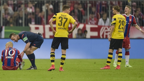 Arjen Robben was injured after coming on as a substitute again Dortmund