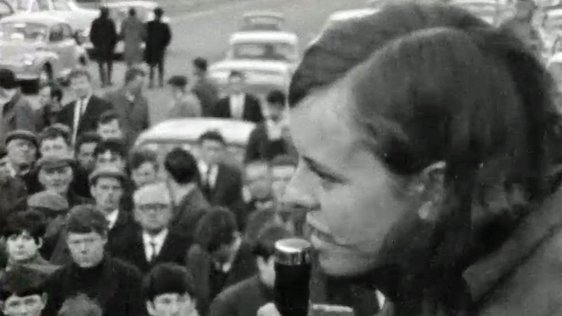 Bernadette Devlin on Eve of Election on 16 April, 1969.