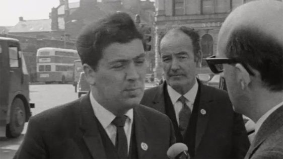 John Hume speaks to RTÉ News about the resignation of Terence O'Neill on 28 April, 1969.