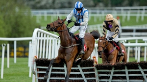 Paul Townend clears the last on Killultagh Vic to win The Irish Daily Mirror Novice Hurdle