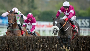 Paul Carberry jumps the last as Don Cossack romped to Gold Cup success in Punchestown
