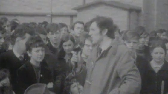 Scenes from Derry riots as filmed by RTÉ News on 20 April, 1969.
