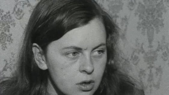 Bernadette Devlin giving her reaction to the riots in Derry on 20 April, 1969.