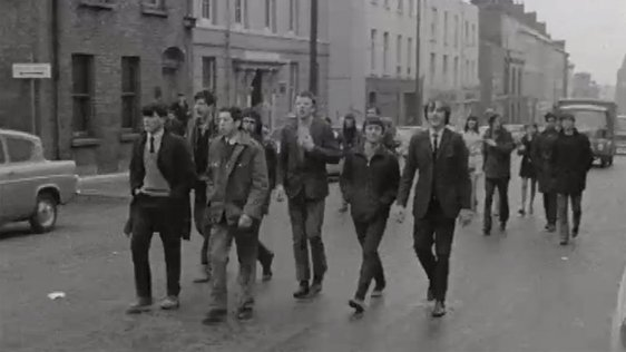 Demonstrations continue in Derry on 21 April, 1969.