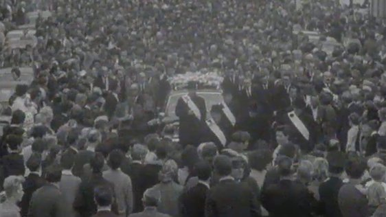 Funeral of Samuel Devenney, which took place on 20 July, 1969.