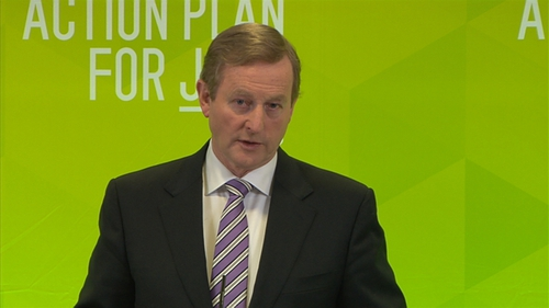 Enda Kenny was speaking at the launch of the Government's quarterly report on the action plan for jobs