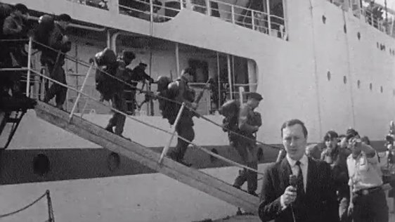 Tom McCaughren reports on the arrival of British Troops in Derry on 18 August 1969.